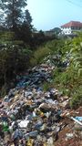 Refuse dump. Residents of Olosun and environment indiscriminately dump their waste in this site royalty free stock photography