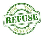 Refuse grunge rubber stamp royalty free stock photo