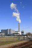 Refuse incinerator plant Stock Image