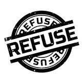 Refuse rubber stamp Stock Image