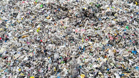 Refused Plastic Waste as biomass fuel. Refused shraded Plastic Waste used as biomass fuel - RPF stock images