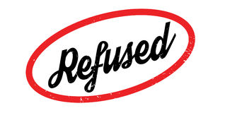 Refused rubber stamp Royalty Free Stock Images