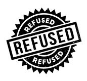 Refused rubber stamp. Grunge design with dust scratches. Effects can be easily removed for a clean, crisp look. Color is easily changed Stock Photo