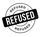 Refused rubber stamp. Grunge design with dust scratches. Effects can be easily removed for a clean, crisp look. Color is easily changed Royalty Free Stock Image