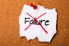 Refused to accept failure Stock Images