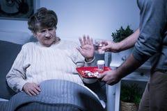 Refuser de prendre des pilules Photo libre de droits