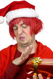 Refuser la surprise de Noël Images libres de droits