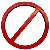 Refusez le signe Photos libres de droits