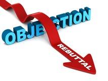Refutación de la objeción de las ventas ilustración del vector
