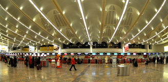 Regístrese en el aeropuerto de Wiena Imagen de archivo libre de regalías