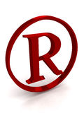Reg. Istered trademark sign, symbol, letter Royalty Free Stock Image