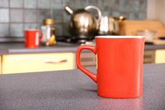 Reg Mug on Kitchen Counter Royalty Free Stock Photo