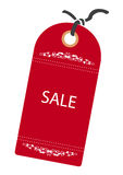 Reg Tag. Sales Red Tag for Web or Print Stock Image