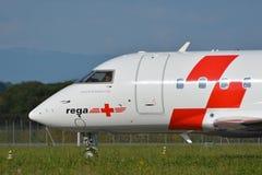Rega - Schweizer Sanitätsflugzeug-Fläche HB-JRB Lizenzfreies Stockbild