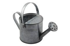 Regadera miniatura de la lata en blanco Fotos de archivo