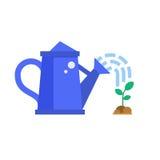 Regadera y brote azules stock de ilustración
