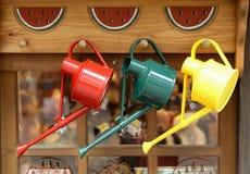 Regaderas coloridas Foto de archivo libre de regalías