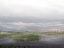 Regain au-dessus de lac Image stock