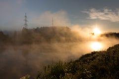 Regain au-dessus du fleuve Photos libres de droits