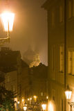 Regain de Prague de nuit Images stock