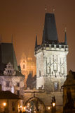 Regain de Prague de nuit Images libres de droits