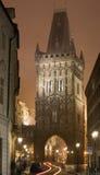 Regain de Prague de nuit Images stock