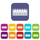 Regal crown icons set flat. Regal crown icons set vector illustration in flat style In colors red, blue, green and other Stock Image