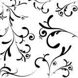 Regal decoration black Royalty Free Stock Image