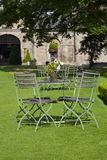 Regal Garden with Table and Chairs royalty free stock image