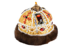 Regal kings fur crown Royalty Free Stock Photo