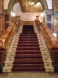 Regal marble staircase. Stunning staircase in a London hotel stock photos