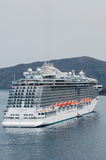 Regal Princess cruise ship. Anchored in Santorini, Greece. Princess Cruise Lines Stock Photo