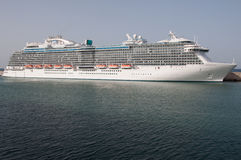 Regal Princess. Cruise ship docked in Civitaveccia, Italy Stock Image