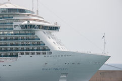 Regal Princess. Cruise ship docked in Civitaveccia, Italy Stock Photo