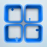 Regale des Vektor 3d Lizenzfreie Stockfotografie