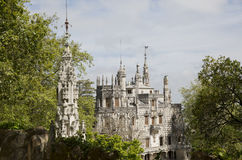 The Regaleira Palace (known as Quinta da Regaleira) located in Sintra, Portugal Royalty Free Stock Images