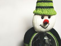 Regali 2 dell'uomo della neve Fotografia Stock