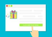 Regali d'acquisto online Immagini Stock