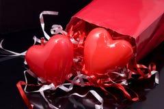 Regali dei biglietti di S. Valentino fotografia stock