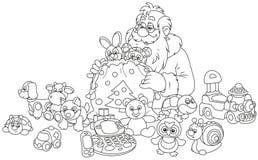 Regali del Babbo Natale Immagini Stock