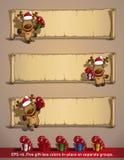 Regali del papiro degli alci di Natale illustrazione di stock