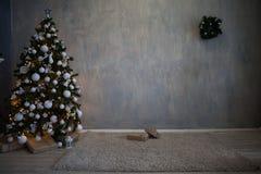 Regali dell'albero della decorazione di Natale del nuovo anno Fotografia Stock