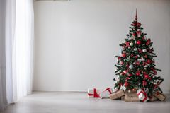 Regali della decorazione di Natale dell'albero di Natale Fotografia Stock