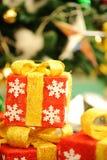 Regali delle decorazioni di Natale Fotografie Stock
