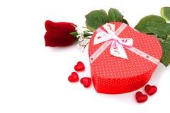 Regali di giorno dei biglietti di S. Valentino Fotografia Stock