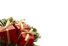 Regali di Natale accantonati Fotografia Stock