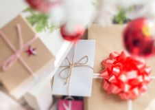 Regali di Natale Assorted fotografia stock libera da diritti