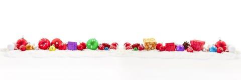 Regali di Natale come fondo Fotografia Stock