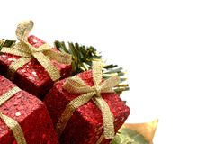 Regali di Natale con scintillio Fotografia Stock