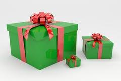 Regali di Natale 3D Fotografia Stock Libera da Diritti